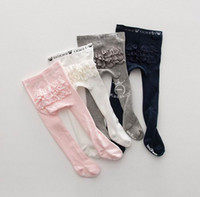 Wholesale Tight Clothes Dance - 2017 New Baby Girl Dance Ballet Tights Layer Lace Cotton Princess Socks Children Clothing 0-4Y ka1128
