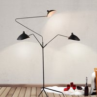 Wholesale Industrial Style Lamps - Wholesale Floor lamp 3 heads Duckbill floor light 3 arms by Serge Mouille floor light contemporary lighting industrial loft style