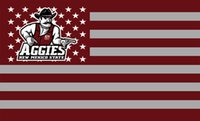 New Mexico State Aggies Flag 90 x 150 cm poliestere NCAA Pistol Pete stelle strisce Banner