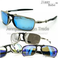 Wholesale Ice Goggles - Top Sunglasses X Metal Sports Polarized Brand Designer badman High quality Sun Glasses Riding UV400 for Mens Women Iridium Ice Blue