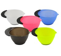 Wholesale Plastic Tint Tool - 5 colors Tint Coloring Dye Plastic Bowls Oil Hair Mask Bowls Salon Care Essential Hairdressing Styling Tool Dye Mixing Bowl