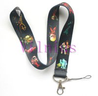 Wholesale Small Car Phone - New 30pcs Popular Character Toy Story  Monsters University Car Phone Lanyard Key chain ID Neck Strap Small Wholesale free shipping