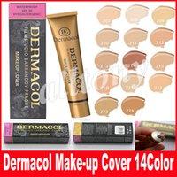 Wholesale Dhl Base - 14 colors Dermacol Make up Cover 30g Primer Concealer Base Professional Face Dermacol Makeup Foundation Contour Palette Makeup Base Free DHL