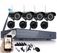 Wholesale Hd Ip Systems - 4pcs HD 720P WIFI Wireless IP Camera System 8CH NVR Outdoor Security Video