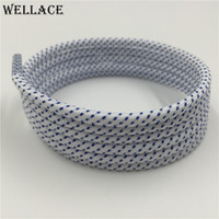 Wholesale Hot Colorful Boots - Wellace Hot Sales Fashion Colorful Shoe Accessories Polyester Polka Dot Round Martin Sports Shoelaces Boots Shoe Laces 125CM