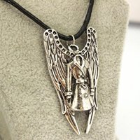 Wholesale Single Rope Necklaces - Wholesale-Europe and the United States Foreign Trade Original Single Film Peripheral Accessories Supernatural Castiel Trench Coat Necklace
