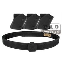 Wholesale Fast Shoot - Wholesale- IPSC USPSA IDPA Competition High Speed Shooting Inner & Outer Belt w  3x Fast Draw Pistol Magazine Pouch Mag Carrier Holster