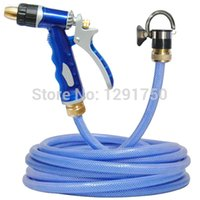 Wholesale Car Washing Gun Pipe - Wholesale- household washing water gun car wash device high pressure water gun nozzle blue water pipe cleaning tools