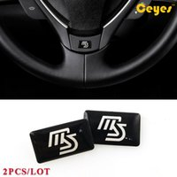 Wholesale Ms Word - Car Plastic Drop Sticker for Mazda MS Badge Logo Car Fashion Stickers Personalized Glue Stickers Auto Decor Accessories Car Styling 2PCS LOT