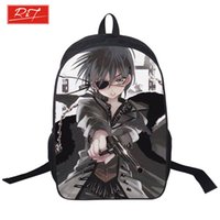 Wholesale Japanese Cartoon Backpack - Wholesale- 2015wholesale Cartoon Black Butler student Backpack teenager Rucksack Japanese Anime School Bag Kids Bookbags with double zipper