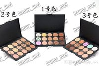 Wholesale New Skin Logos - Factory Direct DHL Free Shipping New Makeup Face No Logo 15 Colors Concealer Palette!!3 Different Colors!