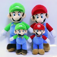 Wholesale Luigi Party - 2017 Super Mario Bros Plush Toys Doll MARIO LUIGI Plush Stuffed Toy Doll Stuffed Plush Toy Christmas Party Best Gifts 25cm 35cm WX-T99