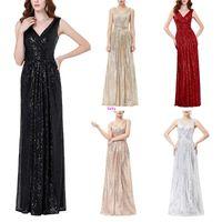 Wholesale Evening Dresses 4xl - elegant new lady dress bridesmaid sleeveless evening dress dress dinner W17