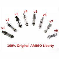 Wholesale Ego V9 - Original Amigo Itsuwa Liberty V1 V3 V4 V5 V7 V9 Stainless Steel tip thick oil Pyrex Glass atomizer fit ego battery preheat pen