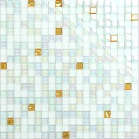 Wholesale White mix rainbow color glass mosaic tiles modern style wall decor tiles high quality waterproof bathroom fireplace glass tiles LSDJ04