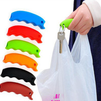 Wholesale Grocery Carrier - 2017 Silicone Shopping Bag Basket Carrier Grocery Holder Handle Comfortable Grip Grips Effort-Save Body Mechanics Multi Color XL-G189