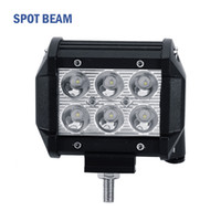 "Wholesale 18w Rectangle Led - 4"" inch 18W Cree LED Work Light Bar Lamp for Motorcycle Tractor Boat Off Road 4WD 4x4 Truck SUV Spot Flood 12v 24v"