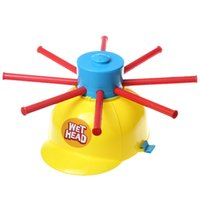 Wholesale Practical Joke Games - Wholesale- Wet Head Hat Water Game Challenge Wet Jokes And toy funny Roulette Game toys Gags & Practical Jokes For April Fools' Day A451