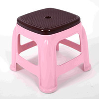 Wholesale Thicker child stool multifunction Plastic medium Size bench durable personal Square Dining table stool anti skid stool for footwear bench