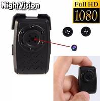 Wholesale portable home security - Full HD 1080P Night Vision Button Pinhole Camera Portable MINI Button camera Mini DV DVR Home Security Camcorder DVR Video Recorder