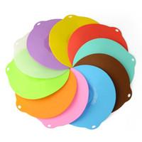 silikon mutfağı örtün toptan satış-Dairesel Kase Kapağı Silikon Conta Cap Isıtma Plakası Renkli Gıda Sınıfı Mikrodalga Fırın Taze Tutulması Kapak Mutfak Eşyası 2 82lm G R