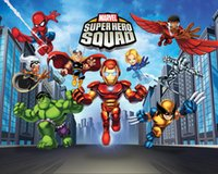 7x5FT Super Hero Squad Marvel Street Custom Photo Studio Sfondo Fondale Banner Vinyl 220cm x 150cm