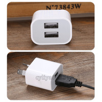 Wholesale Dual Usb Charger Wall Au - Dual interface 5V 2A AU Plug USB Wall Charger Power Travel AC Adapter for iPhone 4 4S 5 5S 5C 6 6S 6 Plus 7 7plus