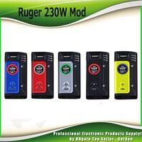 Wholesale Color Led Battery - Original Think Vape Ruger 230W Box Mod with 3 LED Color VW TC Dual 18650 Battery Ecig Vape Mods ThinkVape 100% Authentic