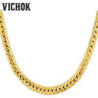 Wholesale Stainless Chain Prices - Fashion Link Chain Necklace 316L Stainless Steel Chain Necklace DIY Accessories For Women Men Promotion Price Gold Color VICHOK