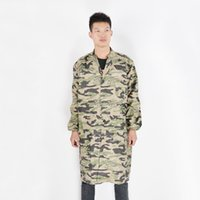 Wholesale Overall Work - Hot Selling Camouflage coat anti-dirty personality trendy camouflage overalls Long Military style Work clothes Free shipping