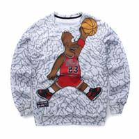Wholesale Sweat Suit Cartoon - Wholesale-Spring New Sweat Suit Men 3D Cartoon Jordan Hoodie Print Casual Sweatshirt Men Women Harajuku Tracksuit Sudaderas Hombre m62