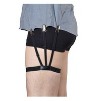 Wholesale Protective Shirt - Wholesale-Jelinda New Metal Button Stretching Shirt Stays Adjustable Size Shirt holder Most Protective Garter Belts for Men and Women