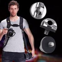 slr tripod toptan satış-SLR fotoğraf makineleri hızlı yükleme vida 1/4