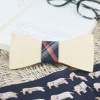 Wholesale Big Bowties - Fashionable Eco-friendly Tie Women or men Handcraft Real Wood BowTies Decorative Big Rectangle New Design Bow Tie