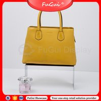 Wholesale Shoes Frame - Shoes Bag Wallet Stool Shelf Handbag Racks Mirror-Like Stainless Steel Glossy Frame Color Fine Bending Workmanship Free ShippiFugui Showcase