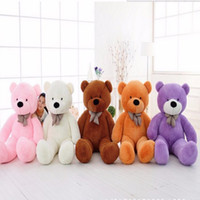 Wholesale Cheap Stuff For Kids - Wholesale- 100cm FULL COTTON Plush Big Teddy Bear Toys Plush Stuffed Teddy Bear Cheap Price Gifts for Kids Girlfriends Christmas