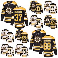 Wholesale Zdeno Chara - 2018 New Brand Men Boston Bruins 37 Patrice Bergeron 88 David Pastrnak 40 Tuukka Rask 33 Zdeno Chara 63 Brad Marchand Hockey Jerseys