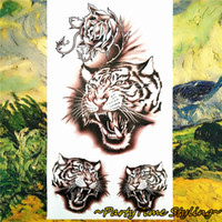 "Wholesale Army Wall Sticker - Wholesale- ""The Growl Tiger"" Army Temporary Body Arts, Flash Tattoo Stickers 17*10cm, Waterproof Car Styling Tatoo Home Decor Wall Sticker"