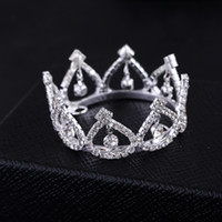 Wholesale Crown For Sale Baby - 2017 Promotion Sale Trendy Zinc Alloy Tiaras Mini Rhinestone Round Tiara Crown for Newborn - Baby Photo Prop
