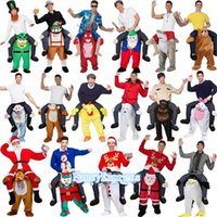 Wholesale Fits Mascot Costumes - Funny Carry Me Fancy Dress Up Ride On Oktoberfest Mascot Party Mascot Halloween Costume One Size Fits Most Fancy Pants