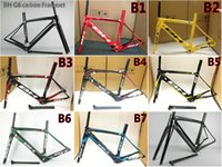 Wholesale Bicycle Bh - T800 UD 3K Road bicycle BH G6 carbon road frame with BB30 BB68 Size XS S M L free shipping