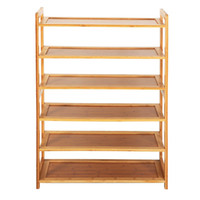 Wholesale Wood Shoes Storage - New Durable Bamboo Shelf Tier 6 Wood Home Furniture Entryway Storage Rack Shoe