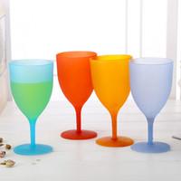 ingrosso plastica ambientale-Calice di plastica ambientale non tossico caramelle colore bicchiere di vino rosso tazza trasparente e liscia vendita calda 1 18tj B R
