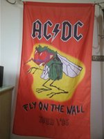 Wholesale Posters Dc - AC DC Poster Flag 90 x 150 cm Polyester Austrilia Hard Rock Band Music Wall Hanging Banner