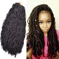Wholesale Synthetic Water Wave - Afro Crochet Water Dreadlocks Hair Synthetic Crochet Braiding hair Havana Twist 18 inch kanekalon Fiber Faux Locs 24roots lot
