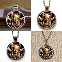Wholesale Hawk Bracelet - 10pcs Hawk Man Superhero Comic Pendant Necklace keyring bookmark cufflink earring bracelet