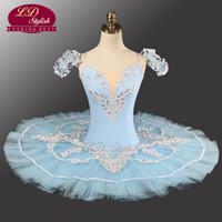 lila goldschleier großhandel-Blau Professional Tutu LD0005 Ballett Performance Tutu Professionelle klassische Ballett Tutu Erwachsenen Professional Classic Ballett