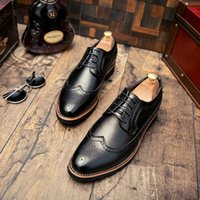 Wholesale Low Heel Dress Shoes Wedding - In the spring of 2017, Bullock carved the British style hair stylist casual shoes, men's shoes