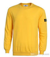 Wholesale T Shirt Stone Island - New 2017 brand new Fashion Men's T-Shirts single yarn stoned is land loop round collar island sweater 7 color size S-XXXL