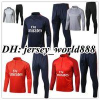 41f362390 TOP QUALITY 17 18 NEYMAR JR jacket Training suit kits soccer Jersey  VERRATTI CAVANI DI MARIA MATUIDI DRAXLER DANI ALVES football shirts ...